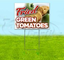 Fried Green Tomatoes 18x24 Yard Sign With Stake Corrugated Bandit Usa Food
