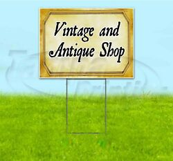Vintage And Antique Shop 18x24 Yard Sign With Stake Corrugated Bandit Usa Pawn