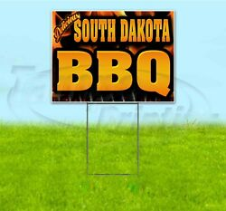 South Dakota Bbq 18x24 Yard Sign With Stake Corrugated Bandit Business Barbecue