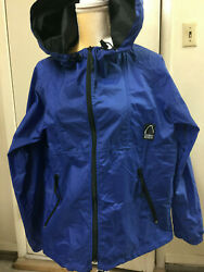 Ladies Nylon Jacket with Hood & Storage Sack Size Small Blue Sierra Designs