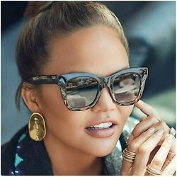 Quay Women's After Hours Sunglasses Navy to Tort Smoke Blue Brown One Size