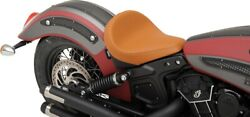 Drag Specialties Smooth Brown Vinyl Solo Seat 15-19 Indian Scout Scout Sixty
