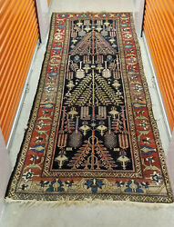 Superb Color And Design Vintage C.1945 Kurdi Bidjar Wide Runner 5 Ft X 13 Ft