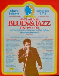 Ann Arbor 1974 Blues And Jazz Festival Concert Poster James Brown 18x22 Nm