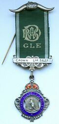 Vintage Masonic Sterling Silver Medal And039and039grand Lodge Of Englandand039and039 1928