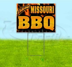 Missouri Bbq 18x24 Yard Sign With Stake Corrugated Bandit Business Barbecue