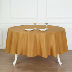 15 Gold 90 Round Polyester Tablecloths Wedding Catering Restaurant Supplies