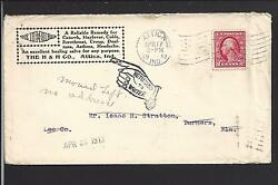 Attica, Indiana Cover,1913, Auxillary Marking,medical Advt., Fountain Co.1826/op