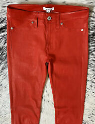1000 Aiko Lucien Leather Legging, Sz 25 Hot Red Insanely Sexy
