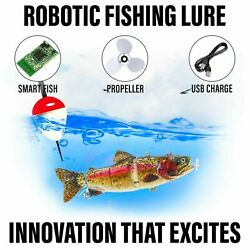 Electric Live Bait Robotic Fishing Lure - Animated Swimming Wobbler - Bass Bait
