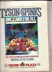 Mike Tyson Michael Spinks On Site Boxing Press Kit  June 27 1988