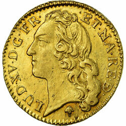 [486130] Coin France Louis Xv Louis Dand039or 1741 Pau Gold Gadoury341a