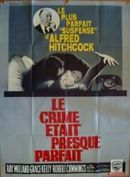 Dial M For Murder French Grande Movie Poster 47x63 Hitchcock Grace Kelly R63