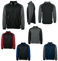 Menand039s Easy Care Full Zip Soft Shell Sport Jacket Drop Tail Pockets Xs-4xl