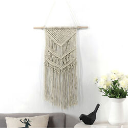 Wall Hanging Woven Tapestry Apartment Vintage Bohemian Home Macrame Handcraft