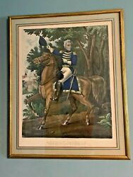Andrew Jackson W/ Tennessee Forces On Hickory Grounds Color Lithograph 1834-45