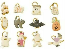 Lenox Halloween Trick Or Treat Ornaments Set Of 12 Ghost Witch New In Box