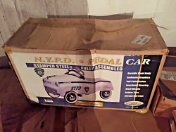 Vintage Gearbox Pedal Car Toy Nypd Police Department New York In Box Never Used