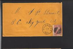 Milwaukee, Wisconsin Cover 3ct Grill Issue, Fancy Cancel, Milwaukee 1835/op.