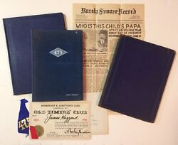 Yearbook Vintage New York Institute Of Credit Nyic 475 Club Signed 1935 1945