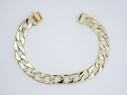Heavy Solid 14k Gold 10mm Curb Link Chain Bracelet 8.5 / 39.2g