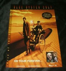 Boc Blue Oyster Cult Curse Of The Hidden Mirror Rare In Store Promo Poster 2001