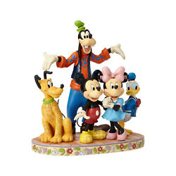 Jim Shore The Gang's All Here Goofy, Pluto, Donald Duck, Mickey, Minnie Mouse