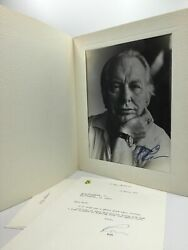 L Ron Hubbard / Autograph Photo And Typed Letter Signed 1979