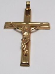 100 Genuine Vintage 9k Solid Yellow Gold Large Crucifix Cross Pendant