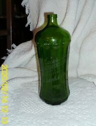 Antique Courtland Mineral Water Works Green Seltzer Bottle Andndash No Top. - Brooklyn