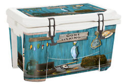 Usatuff Wrap Decal Full Kit Fits Grizzly 75 Cooler Accessories - Gone Fishing
