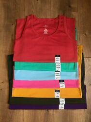 Womenand039s St. Johnand039s Bay Tank Top S M L Xl / Red Mint Blue Pink Gold Green Purple