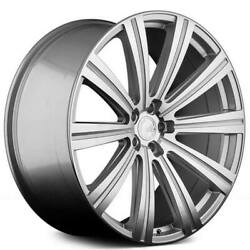 4 22 Staggered Avant Garde Wheels Vanguard Silver Machined Rims B3