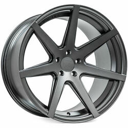 4 19 Staggered Rohana Wheels Rc7 Matte Graphite Rims B3