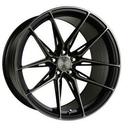 4 20x9/11 Staggered Vertini Wheels Rfs1.8 Dual Black Rims B3
