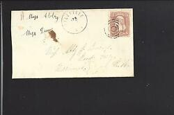 Millville New York 65 Ladies Cover To New Hampshire Orleans Co Dpo1826/08.