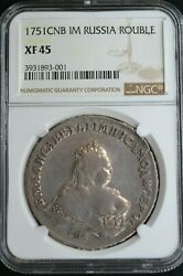 1751cnb Im Russian Impire Silver Coin One 1 Rouble Ruble Ngc Xf45 Russia