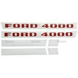 Ford 4000 3cyl Diesel 1968 - 1975 Tractor Hood Decal Kit