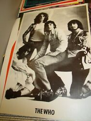 The Who 1960's Vintage Rock Group Shot Poster Roger Pete Keith Moon -nice