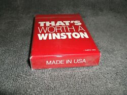 1993 Vintage Thatand039s Worth A Winston Playing Cards Cigarette Advertisingnew