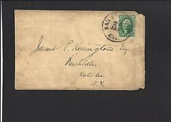 San Francisco, California Cover. Transcontinental Usage To Rushville, New York.