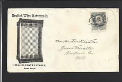 New York, New York 1ct Banknote, Illust Advt Cover, Braided Wire Mattress Co.