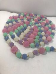 Spring Easter Pastel Colors Beaded Garland 8andrsquo Foot Gold Frosted Look