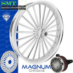 Smt Machining Magnum Chrome Front Wheel Harley Touring Bagger 21