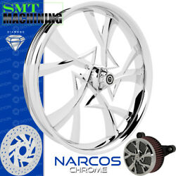 Smt Machining Narcos Chrome Front Wheel Harley Touring Bagger 21