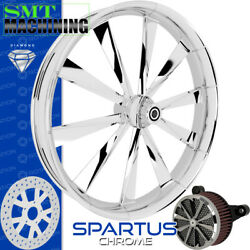 Smt Machining Spartus Chrome Front Wheel Harley Touring Bagger 21
