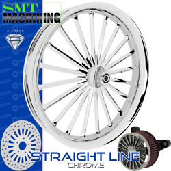 Smt Machining Straight Line Chrome Front Wheel Harley Touring Bagger 21