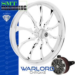 Smt Machining Warlord Chrome Front Wheel Harley Touring Bagger 21