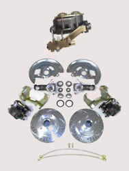 1964-1972 Gm A F X Body Manual Slotted Disc Brake Conversion Kit Stock Spindles