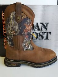 Dan Post Men's Hunter Steel Toe Waterproof Work Boots Size 13 EW TanCamo
